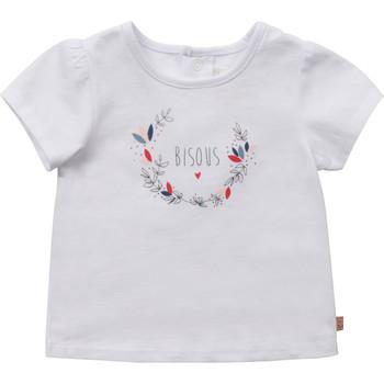 vaatteet Tytöt Lyhythihainen t-paita Carrément Beau Y95270-10B Valkoinen