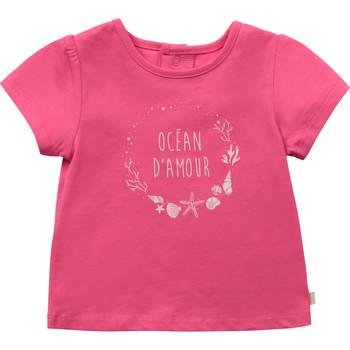 vaatteet Tytöt Lyhythihainen t-paita Carrément Beau Y95270-46C Vaaleanpunainen