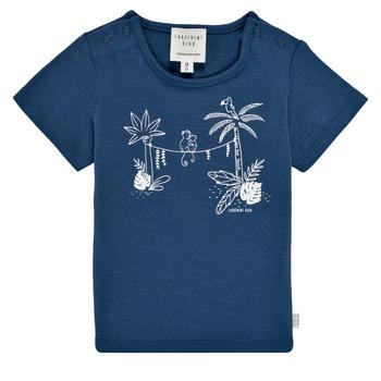 vaatteet Pojat Lyhythihainen t-paita Carrément Beau Y95274-827 Laivastonsininen