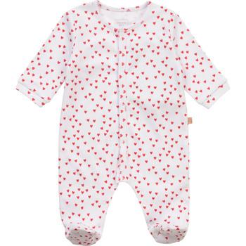 vaatteet Tytöt pyjamat / yöpaidat Carrément Beau Y97101-10B Valkoinen