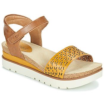 kengät Naiset Sandaalit ja avokkaat Josef Seibel CLEA 09 Ruskea / Keltainen