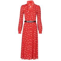 vaatteet Naiset Pitkä mekko MICHAEL Michael Kors SIGNTRE LOGO SHRT DRS Punainen