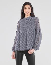 vaatteet Naiset Topit / Puserot MICHAEL Michael Kors MINI FLORAL LS TOP Laivastonsininen