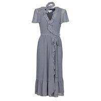 vaatteet Naiset Pitkä mekko MICHAEL Michael Kors MINI BICOLR 60S FLRL DRS Sininen