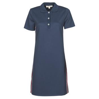 vaatteet Naiset Lyhyt mekko MICHAEL Michael Kors SS LOGO TAPE POLO DRS Laivastonsininen