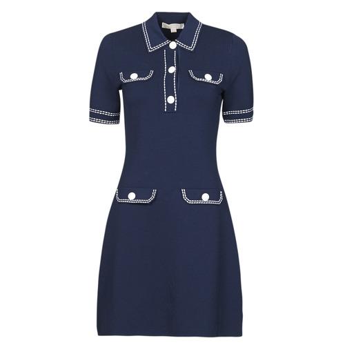 vaatteet Naiset Lyhyt mekko MICHAEL Michael Kors CONTRAST STITCH BUTTON DRESS Laivastonsininen
