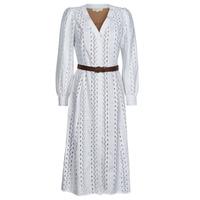 vaatteet Naiset Pitkä mekko MICHAEL Michael Kors ROPE STRIPES HEMP DS Valkoinen