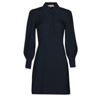 vaatteet Naiset Lyhyt mekko MICHAEL Michael Kors VI SATIN MINI DRESS Laivastonsininen
