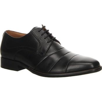 kengät Miehet Derby-kengät Salamander Henley Flats Musta