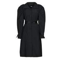 vaatteet Naiset Trenssitakki Karl Lagerfeld DRAPEDTRENCHCOAT Musta
