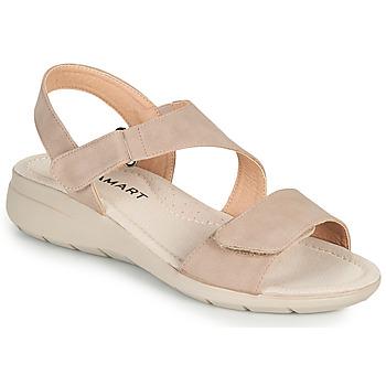 kengät Naiset Sandaalit ja avokkaat Damart 67808 Beige / Vaaleanpunainen