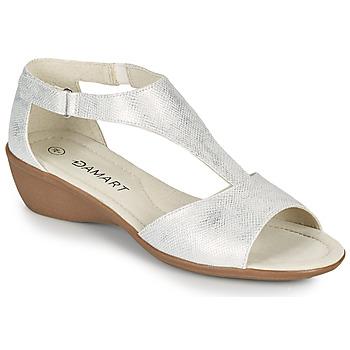 kengät Naiset Sandaalit ja avokkaat Damart 49019 Hopea