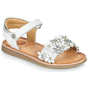 kengät Tytöt Sandaalit ja avokkaat Gioseppo MAZARA Valkoinen / Hopea