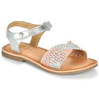 kengät Tytöt Sandaalit ja avokkaat Gioseppo QUINCY Hopea / Vaaleanpunainen