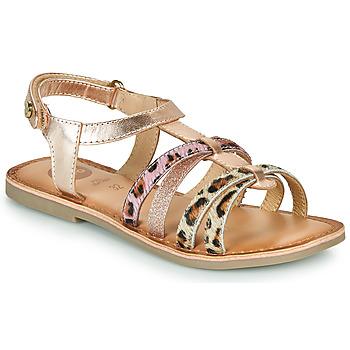 kengät Tytöt Sandaalit ja avokkaat Gioseppo PALMYRA Vaaleanpunainen / Kulta