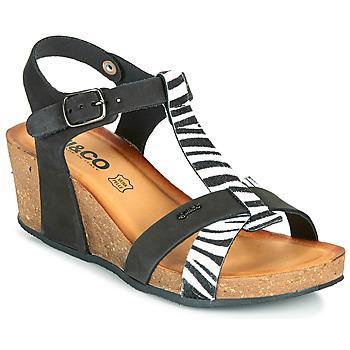 kengät Naiset Sandaalit ja avokkaat IgI&CO JOULIA Musta / Valkoinen