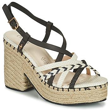 kengät Naiset Sandaalit ja avokkaat Menbur BALMUCCIA Musta / Valkoinen