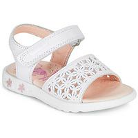 kengät Tytöt Sandaalit ja avokkaat Pablosky DROSSI Valkoinen / Pink