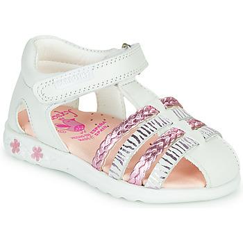 kengät Tytöt Sandaalit ja avokkaat Pablosky ELLA Valkoinen / Pink