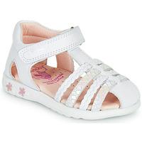 kengät Tytöt Sandaalit ja avokkaat Pablosky TONNI Valkoinen / Pink