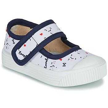 kengät Lapset Balleriinat Citrouille et Compagnie MY LOVELY BABIES Valkoinen / Kuvioitu