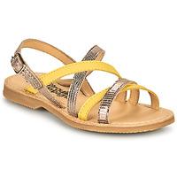 kengät Tytöt Sandaalit ja avokkaat Citrouille et Compagnie GENTOU Yellow / Hopea