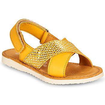 kengät Tytöt Sandaalit ja avokkaat Citrouille et Compagnie OVETTE Keltainen