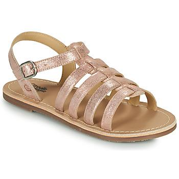 kengät Tytöt Sandaalit ja avokkaat Citrouille et Compagnie MAYANA Vaaleanpunainen / Kulta