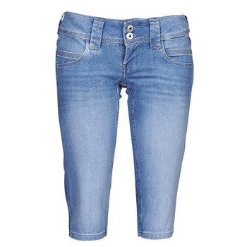 vaatteet Naiset Caprihousut Pepe jeans VENUS CROP Sininen