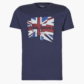 vaatteet Miehet Lyhythihainen t-paita Pepe jeans DONALD Laivastonsininen