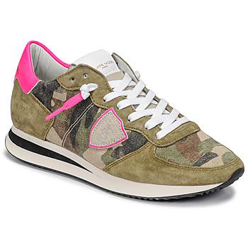 kengät Naiset Matalavartiset tennarit Philippe Model TROPEZ X Maastokuviot