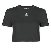 vaatteet Naiset Lyhythihainen t-paita adidas Originals CROP TOP Musta