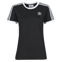 vaatteet Naiset Lyhythihainen t-paita adidas Originals 3 STRIPES TEE Musta