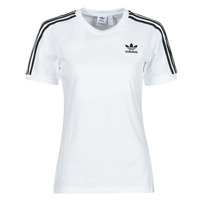 vaatteet Naiset Lyhythihainen t-paita adidas Originals 3 STRIPES TEE Valkoinen
