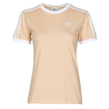 vaatteet Naiset Lyhythihainen t-paita adidas Originals 3 STRIPES TEE Oranssi