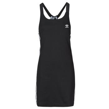 vaatteet Naiset Lyhyt mekko adidas Originals RACER B DRESS Musta