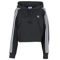 vaatteet Naiset Svetari adidas Originals SHORT HOODIE Musta