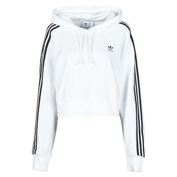 vaatteet Naiset Svetari adidas Originals SHORT HOODIE Valkoinen