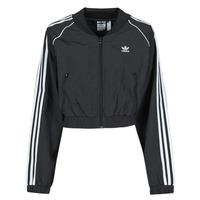vaatteet Naiset Ulkoilutakki adidas Originals SHORT TRACKTOP Musta