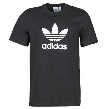 vaatteet Miehet Lyhythihainen t-paita adidas Originals TREFOIL T-SHIRT Musta