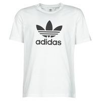 vaatteet Miehet Lyhythihainen t-paita adidas Originals TREFOIL T-SHIRT Valkoinen