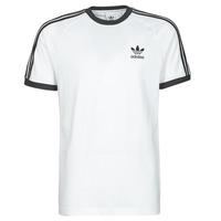 vaatteet Miehet Lyhythihainen t-paita adidas Originals 3-STRIPES TEE Valkoinen