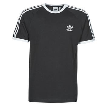 vaatteet Miehet Lyhythihainen t-paita adidas Originals 3-STRIPES TEE Musta