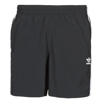 vaatteet Miehet Uima-asut / Uimashortsit adidas Originals 3-STRIPE SWIMS Musta
