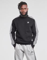 vaatteet Miehet Svetari adidas Originals 3-STRIPES CREW Musta