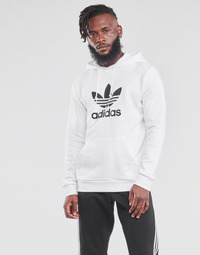 vaatteet Miehet Svetari adidas Originals TREFOIL HOODIE Valkoinen