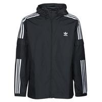 vaatteet Miehet Tuulitakit adidas Originals 3-STRIPES WB FZ Musta
