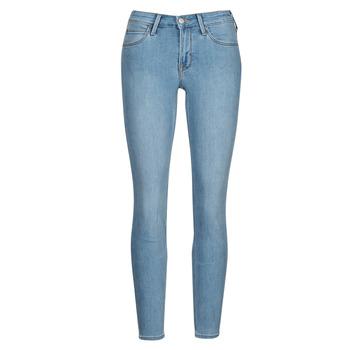 vaatteet Naiset Skinny-farkut Lee SCARLETT Sininen