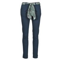 vaatteet Naiset Chino-housut / Porkkanahousut Le Temps des Cerises LIDY Sininen