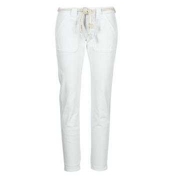 vaatteet Naiset 5-taskuiset housut Le Temps des Cerises EZRA Valkoinen